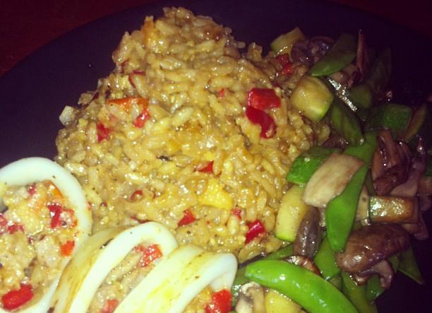 paella calamari e verdure