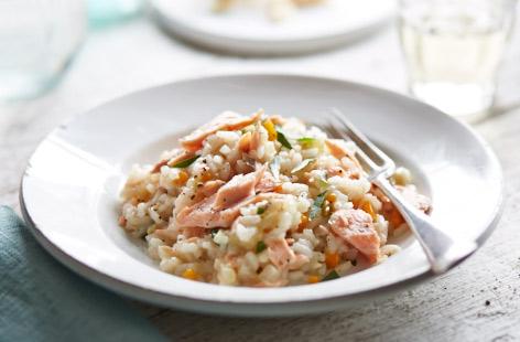 risotto salmone bimby